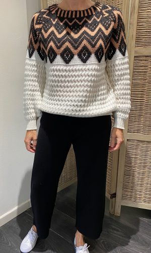 Pull Maria Bellentani • Pantalon Weekend Max Mara • Chaussures Lacoste